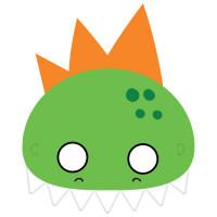 Dino-Mite Dinosaur Face Masks - 8 Pack