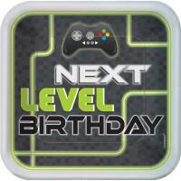 Level Up Gamer 22.9 cm Dinner Plate - 8 Pack