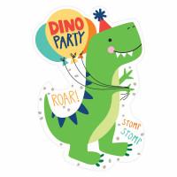 Dino-Mite Dinosaur Postcard Invitations with Seals - 8 Pack