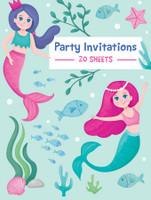 Mermaid Padded Invitations - 20 Sheets