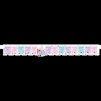 Mermaid Shine Happy Birthday Ribbon Banner - 1.63 Metres