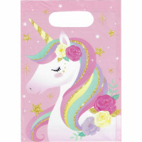 Unicorn Flowers Party Bags - 8 Pack