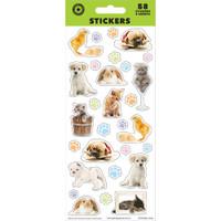 Pet Animals Sticker Sheet - 58 Stickers