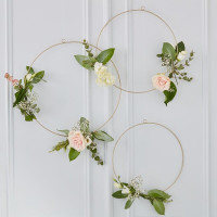 Gold Metal Floral Hoops - 3 Pack (Flowers not Included)