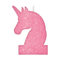 Magical Unicorn Large Pink Glitter Candle
