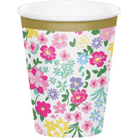 Floral Tea Party Cups - 8 Pack