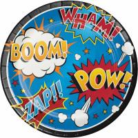 Superhero Slogans Dinner Plates - 8 Pack