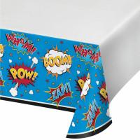 Superhero Slogans Plastic Tablecover