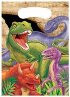 Dino Blast Dinosaur Loot Bags - 8 Pack