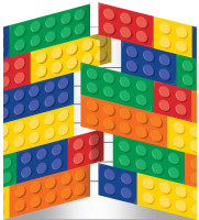 Lego Inspired Block Party Gatefold Invitations with Envelopes
