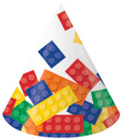 Lego Inspired Block Party Hats - 8 Pack