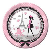 Party in Paris 22.2cm Dinner Plates - 8 Pack