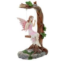 Fairy on Tree Swing - Pink