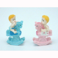 Boy or Girl Riding Rockinghorse - 5.5 cm