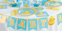 Bubble Bath Baby Paper Dinner Plates - Pack of 8