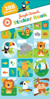 Jungle Animals Sticker Book - 12 Sheets