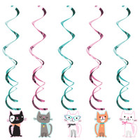 Purrfect Kitty Cat Dizzy Danglers  - Pack of 5