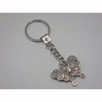 Silver Diamonte Butterfly Keyring