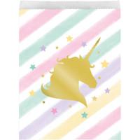 Unicorn Sparkle Paper  Loot Bags 22cm x 16cm - Pack of 10