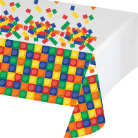 Lego Inspired Block Party Print  Plastic Tablecover