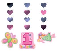 Fun at One 1st Birthday Girl Hanging Cutouts