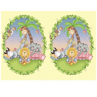 Baby Animal Bazooples Plastic Tablecover - 137.2 cm x 274.3 cm