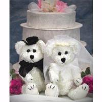 """Bride and Groom 6"""" Bears - Set of 2"""