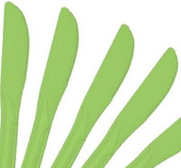 25 Plastic Knives - Lime Green