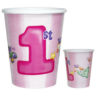 Fun at One 1st Birthday Girl Paper Cups - Pack of 8