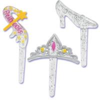 Princess Glitter Cupcake Picks - 9 Pack