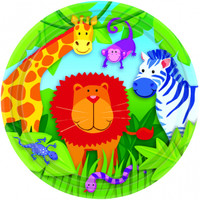 Jungle Animals 17.8cm Lunch Plates - Pack of 8