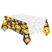 LOL Emoji Plastic Tablecover - 137cm x 244cm