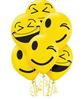 LOL Emoji 30.4 cm Latex Balloons - Pack of 6