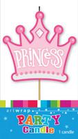 Princess Tiara Single Party Candle