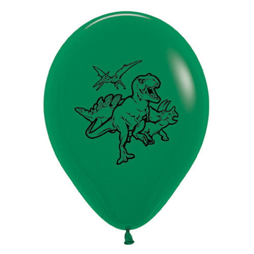 Dinosaurs Green Latex Balloons - Pack of 6