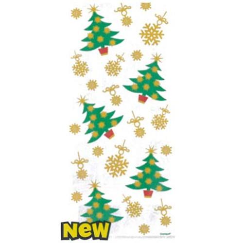 Christmas Tree Cello Bag - 20 Pack