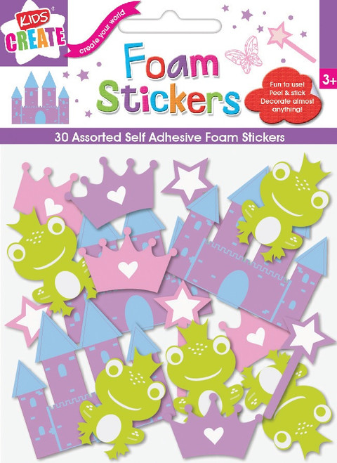 Fairytale Princess Foam Stickers - Pack of 30
