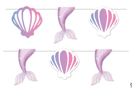 Mermaid Tail and Shell Bunting - 2 Metres