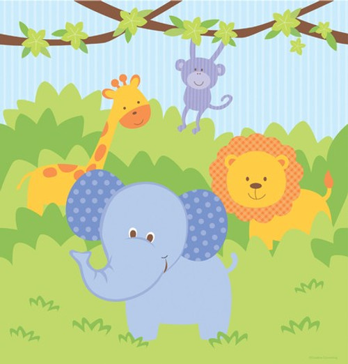 Forest Friends Animals Plastic Tablecover - 121.92 cm x 223.52 c