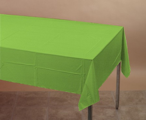 Fresh Lime Green Plastic Tablecover - 137.16 cm x 274.32 cm