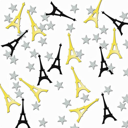 Eiffel Tower and Star Confetti  - 14 Grams