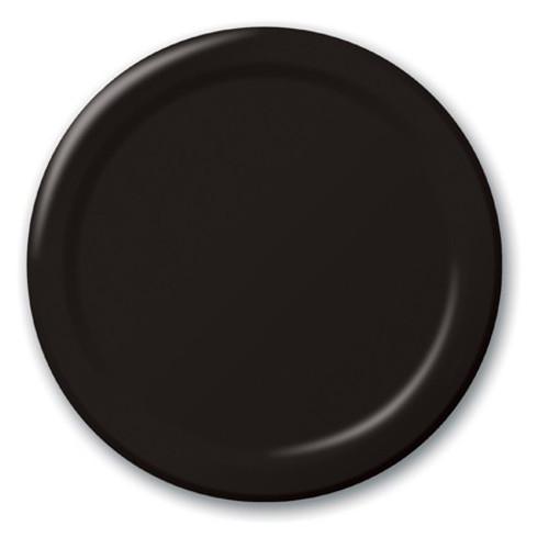 Black Velvet Paper Luncheon Plates - Pack of 8