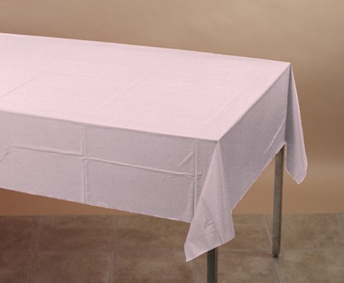 Classic Pink Plastic Tablecover - 137.16cm x 274.32cm