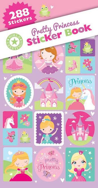 Pretty Princess Sticker Book - 12 Sheets