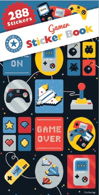 Gamer Sticker Book - 12 Sheets