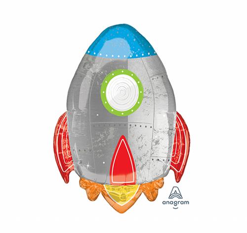 Blast Off SuperShape Rocket Balloon - 73cm