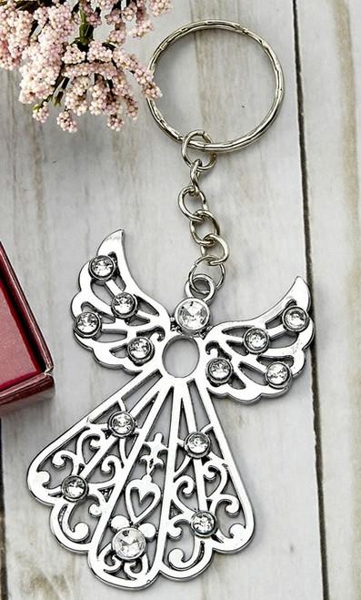 Silver Angel Key Ring