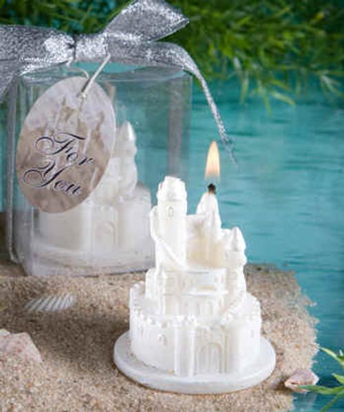 White Castle Candle Favour