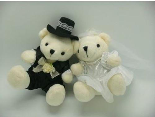 Wedding Bear Couple - Bride and Groom (Set of 2)