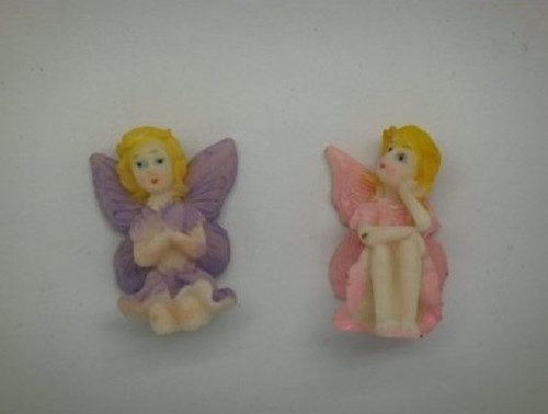 4cm Fairy Ornament - Lavender or Pink